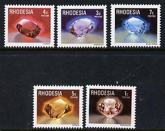 Rhodesia 1978 Minerals set of 5 from def set unmounted mint, SG 555-59*