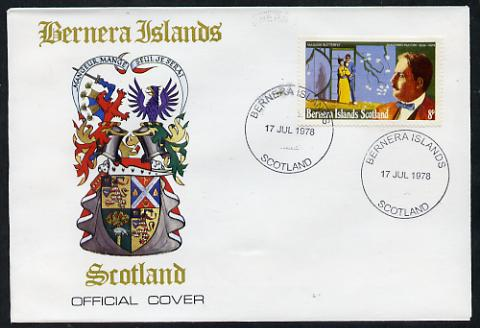 Bernera 1978 Giacomo Puccini perf 8p on Official unaddressed cover with first day cancel