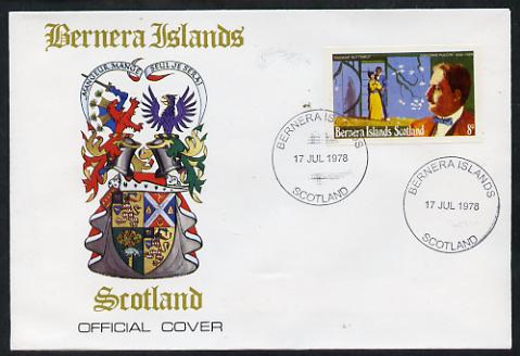 Bernera 1978 Giacomo Puccini imperf 8p on Official unaddressed cover with first day cancel