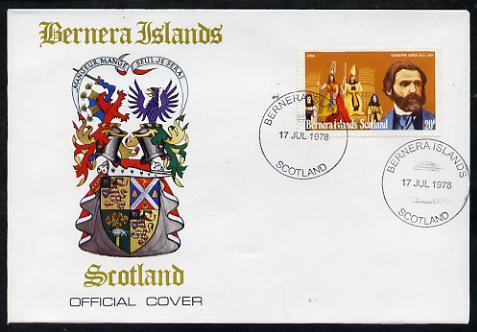 Bernera 1978 Giuseppe Verdi perf 20p on Official unaddressed cover with first day cancel