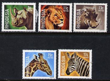 Rhodesia 1978 Animals set of 5 from def set unmounted mint, SG 560-64*