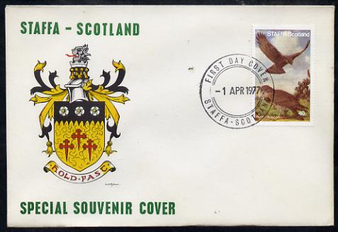 Staffa 1977 Honey Buzzard perf 40p on Official unaddressed cover with first day cancel