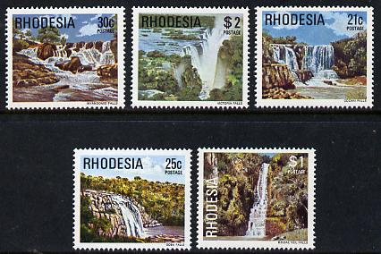Rhodesia 1978 Waterfalls set of 5 from def set unmounted mint, SG 565-69*