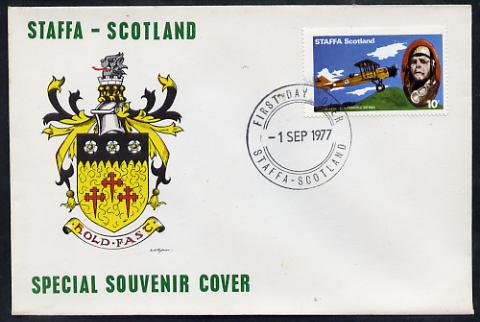 Staffa 1977 Chicago-San Francisco Air Mail 10p (from Lindbergh's Flight Anniversary set) on cover with first day cancel