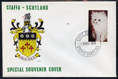 Staffa 1979 Cats - Angora 14p perf on cover with first day cancel