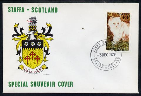 Staffa 1979 Cats - Tortoiseshell 64p perf on cover with first day cancel