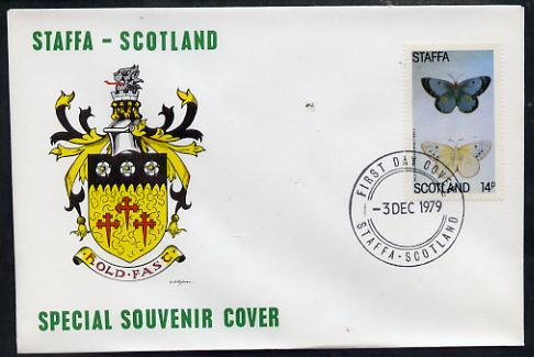 Staffa 1979 Butterflies - Pale Clouded & Yellow 14p perf on cover with first day cancel