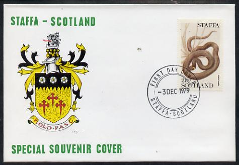 Staffa 1979 Snakes - Grass Snake 21p perf on cover with first day cancel