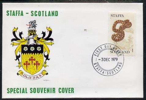 Staffa 1979 Snakes - Adder 45p perf on cover with first day cancel