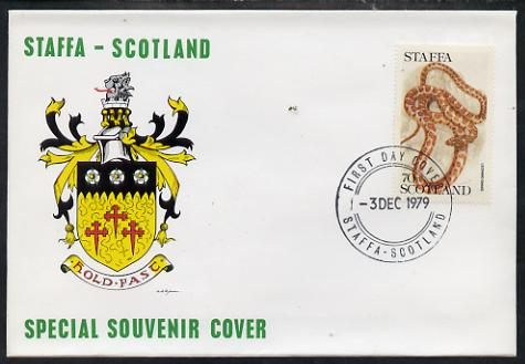 Staffa 1979 Snakes - Leopard Snake 70p perf on cover with first day cancel