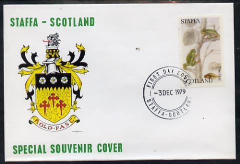 Staffa 1979 Frogs - Tree Frog 27p perf on cover with first day cancel