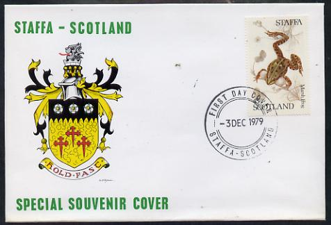 Staffa 1979 Frogs - Marsh Frog 45p perf on cover with first day cancel