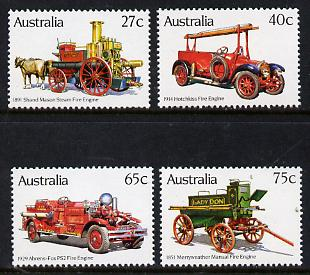 Australia 1983 Historic Fire Engines set of 4 unmounted mint, SG 875-78*