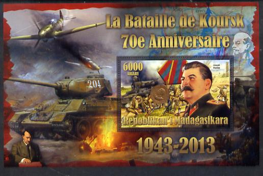 Madagascar 2014 70th Anniversary of Battle of Koursk perf souvenir sheet unmounted mint