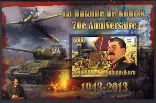 Madagascar 2014 70th Anniversary of Battle of Koursk imperf souvenir sheet unmounted mint