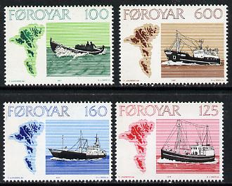 Faroe Islands 1977 Fishing Boats set of 4 unmounted mint SG 23-26 (Mi 24-27)