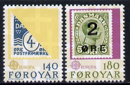 Faroe Islands 1979 Europa (Stamp on Stamp) set of 2 unmounted mint, SG 42-43 (Mi 43-44)