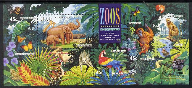 Australia 1994 Zoos m/sheet with Sydney Stamp & Coin Show logo, unmounted mint SG MS 1484