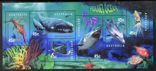 Australia 1998 International Year of the Ocean m/sheet unmounted mint, SG MS1828