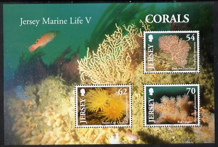 Jersey 2004 Corals perf m/sheet unmounted mint, SG MS 1169