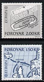 Faroe Islands 1982 Europa (Map & Archaeological dig) set of 2 unmounted mint, SG 69-70 (Mi 70-71)