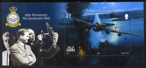 Isle of Man 2003 60th Anniversary of Dam Busters Raid perf m/sheet unmounted mint SG MS1073