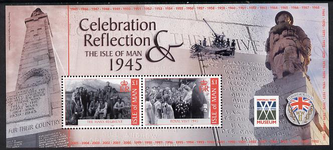 Isle of Man 2005 60th Anniversary of End of World War 2 perf m/sheet unmounted mint SG MS 1216