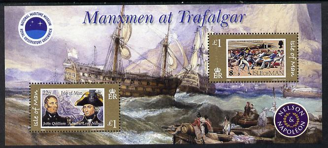 Isle of Man 2005 Bicentenary of Battle of Trafalgar perf m/sheet unmounted mint SG MS 1207