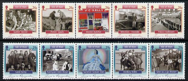 Isle of Man 2005 Time to Remember perf set of 10 (2 strips of 5)unmounted mint SG 137-46