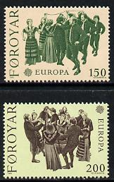 Faroe Islands 1981 Europa (Dances) set of 2 unmounted mint, SG 62-63 (Mi 63-64)