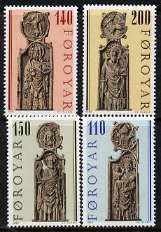 Faroe Islands 1980 Church Pews set of 4 unmounted mint, SG 54-57 (Mi 55-58)
