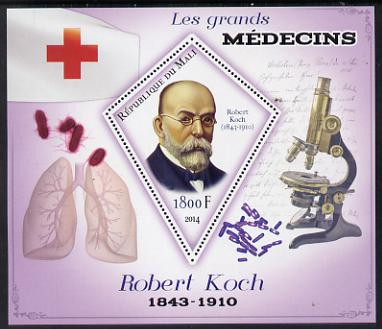 Mali 2014 Great Men of Medicine - Robert Koch perf s/sheet containing one diamond shaped value unmounted mint