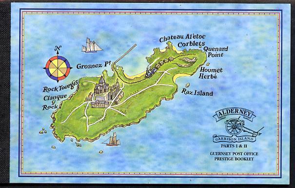 Booklet - Guernsey - Alderney 1998 Garrison Island #1 & #2 \A38.48 booklet complete & fine SG ASB6