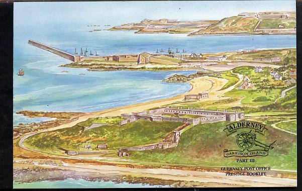 Booklet - Guernsey - Alderney 1999 Garrison Island #3 \A36.78 booklet complete & fine SG ASB7