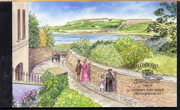 Booklet - Guernsey - Alderney 2000 Garrison Island #4 \A37.38 booklet complete & fine SG ASB10