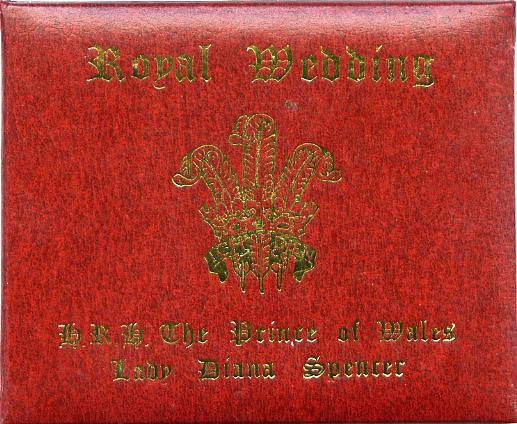 Staffa 1981 Royal Wedding \A38 value in 23 carat gold foil in special presentation folder