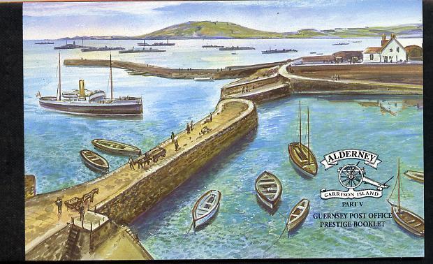 Booklet - Guernsey - Alderney 2001 Garrison Island #5 \A37.50 booklet complete & fine SG ASB11