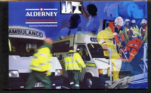 Booklet - Guernsey - Alderney 2002 Community Services #1 & #2 \A39.40 booklet complete & fine SG ASB12