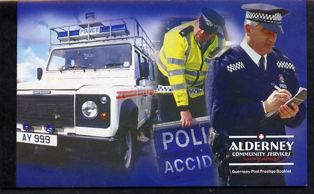 Booklet - Guernsey - Alderney 2003 Community Services #3 \A39.40 booklet complete & fine SG ASB13