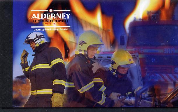 Booklet - Guernsey - Alderney 2004 Community Services #4 \A39.76 booklet complete & fine SG ASB14