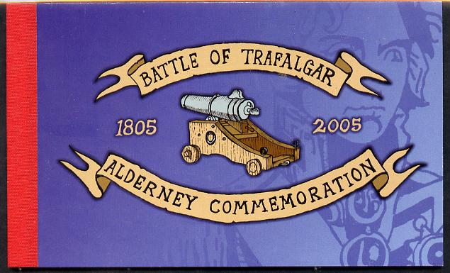 Booklet - Guernsey - Alderney 2005 Bicentenary of Battle of Trafalgar \A39.76 booklet complete & fine SG ASB15
