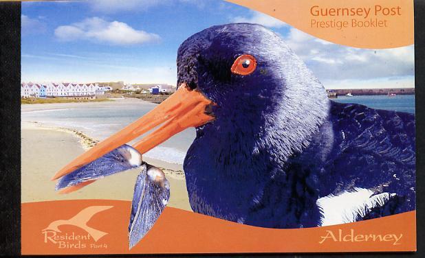 Booklet - Guernsey - Alderney 2009 Residential Birds #4 \A312.68 booklet complete & fine SG ASB19