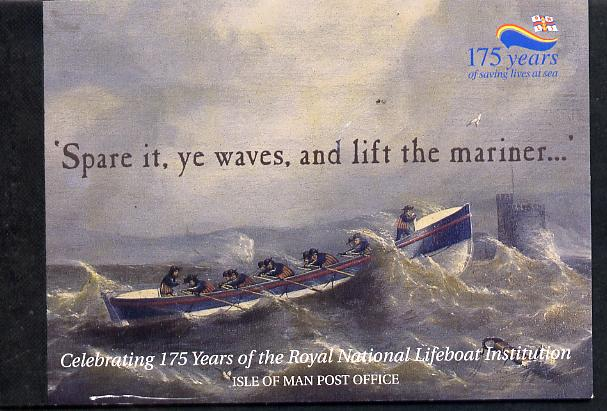Booklet - Isle of Man 1999 175th Anniversary of Royal National Lifeboat Institution \A34.64 Prestige booklet complete & fine SG SB50