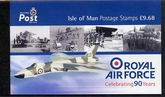Booklet - Isle of Man 2008 90th Anniversary of Royal Air Force \A39.68 Prestige booklet complete & fine SG SB69