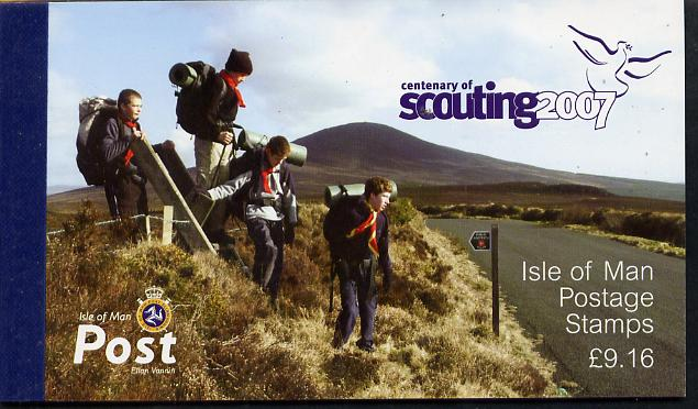 Booklet - Isle of Man 2007 Centenary of Scouting \A39.16 Prestige booklet complete & fine SG SB66