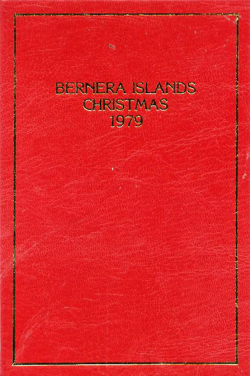 Bernera 1979 Christmas \A310 value (Angel Gabriel Blowing Trumpet) in 24 carat gold foil in special presentation folder unmounted mint