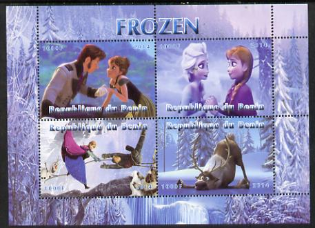 Benin 2014 Disney's Frozen perf sheetlet containing 4 values unmounted mint. Note this item is privately produced and is offered purely on its thematic appeal