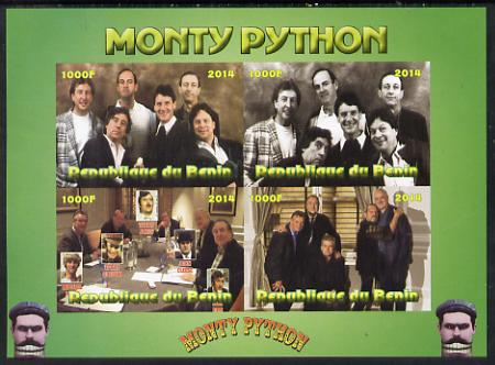 Benin 2014 Monty Python imperf sheetlet containing 4 values unmounted mint. Note this item is privately produced and is offered purely on its thematic appeal