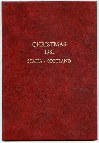 Staffa 1981 Christmas \A38 value (Angel after Durer) in 22 carat gold foil in special presentation folder