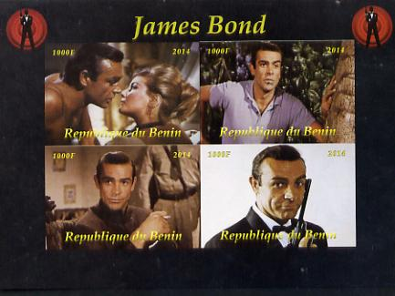 Benin 2014 James Bond imperf sheetlet containing 4 values unmounted mint. Note this item is privately produced and is offered purely on its thematic appeal